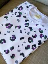 Load image into Gallery viewer, Women's leopard crew - close up on the leopard print.