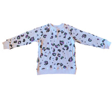 Load image into Gallery viewer, Kid's Crewneck Sweatshirt - Leopard (0-6 to 13/14)