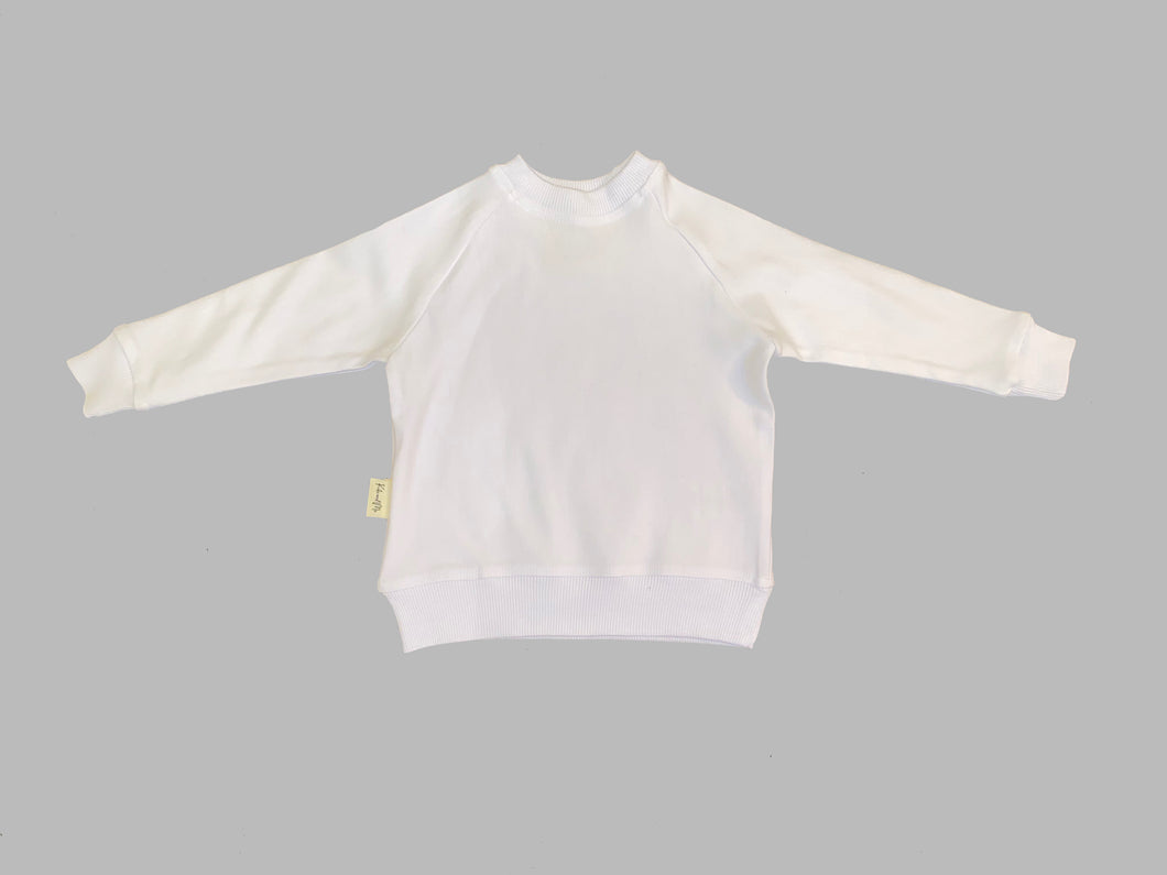 Kid's Crewneck Sweatshirt - White (0-6 to 13/14)