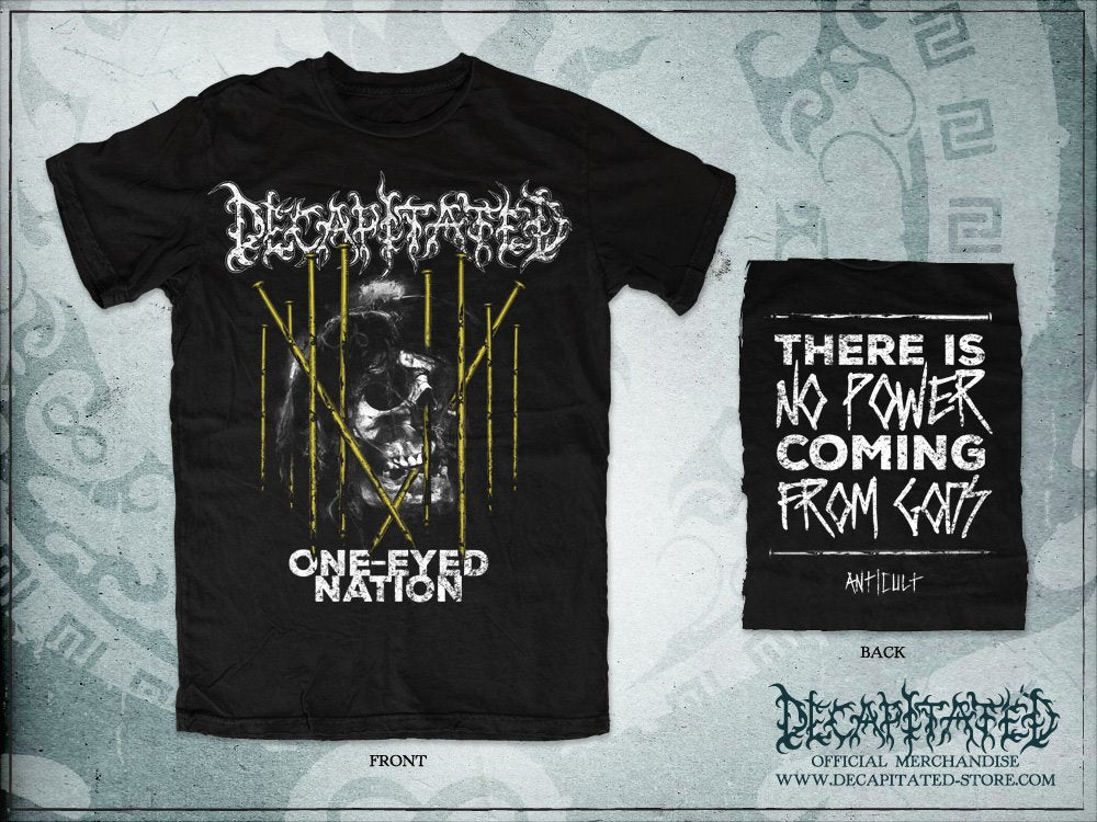 One-Eyed Nation tee (limited edition yellow print)