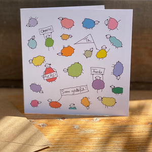 """A Flock Load of Thank Ewes"" Card by Crafty Pipsqueak"