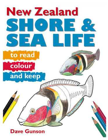New Zealand Shore and Sea Life to Read, Colour and Keep | By Dave Gunson