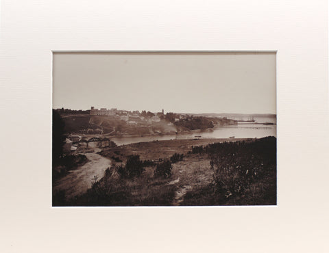 Photographing Early Auckland / Looking down Parnell Rise, 1868 / Matted Print