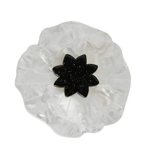 Poppy Field Brooch - White