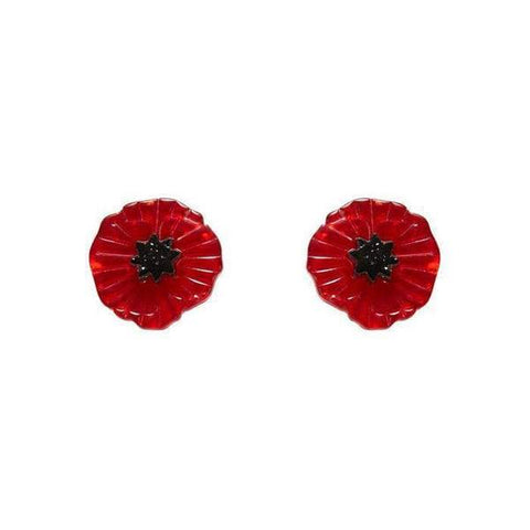 Poppy Field Earrings - Red