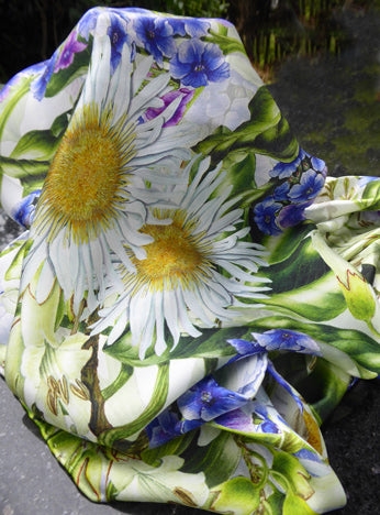 Silk Scarf - Marlborough Rock Daisy