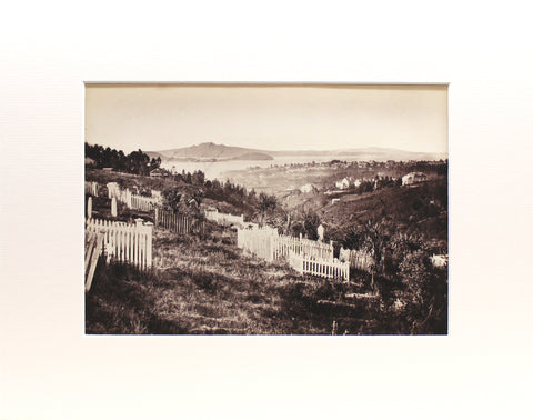 Photographing Early Auckland I The cemetery, Auckland circa 1868 I Matted Print