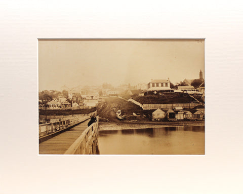 Photographing Early Auckland / Wynyard Pier, 1860s / Matted Print