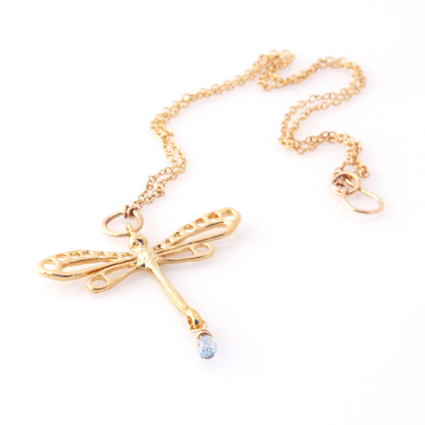 Gold Dragonfly Necklace | by Louise Douglas