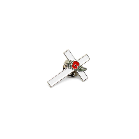Fields of Remembrance Pin - Memorial White Cross