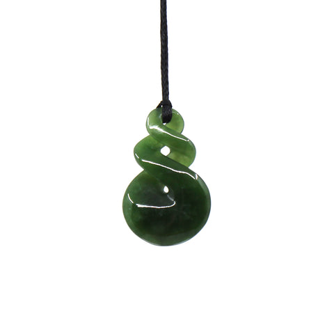 Double Twist Pounamu Pendant | by Luke Gardiner