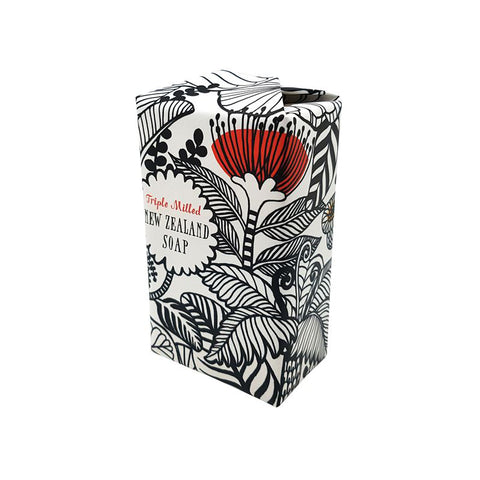 Black & White NZ Flowers Soap