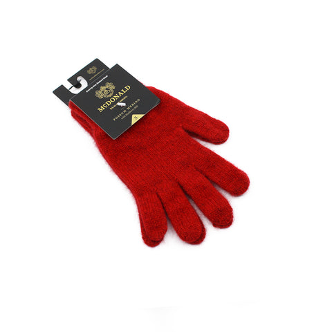 Possum Merino Gloves - Red
