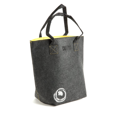 Kowhai Yellow & Grey - Shoulder Tote Bag by Jo Luping Design