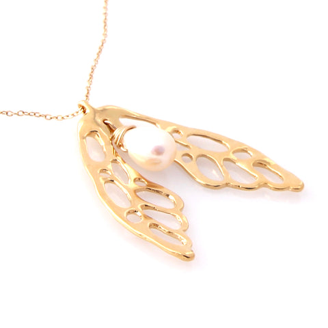 Gold Wing Pendant | by Louise Douglas