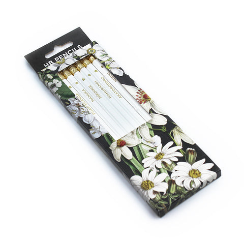 New Zealand Native White Flowers Pencil Pack