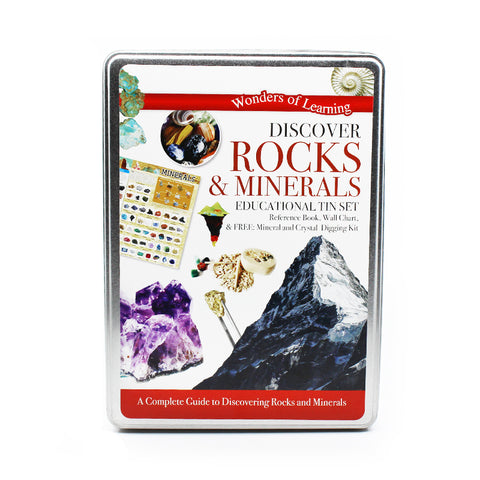 Discover Rocks & Minerals Educational Tin Set