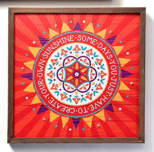 Red LED Wood Canvas - Create your own sunshine