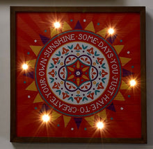 Load image into Gallery viewer, Red LED Wood Canvas - Create your own sunshine