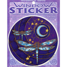 Load image into Gallery viewer, Window Sticker: Dragonfly Moon