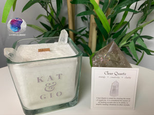 "Kat & Gio ""Ebullience"" Clear Quartz Candle"