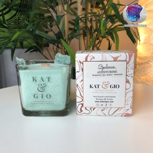 "Kat & Gio ""Opulence"" Green Aventurine Candle"
