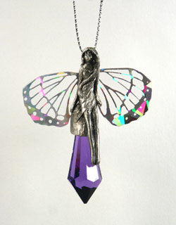 Hologram Fairies Hanging Crystal