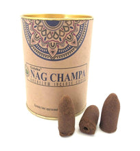Load image into Gallery viewer, Nag Champa Backflow Incense Cones