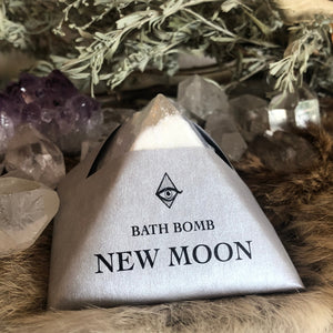 New Moon Crystal Bath Bomb