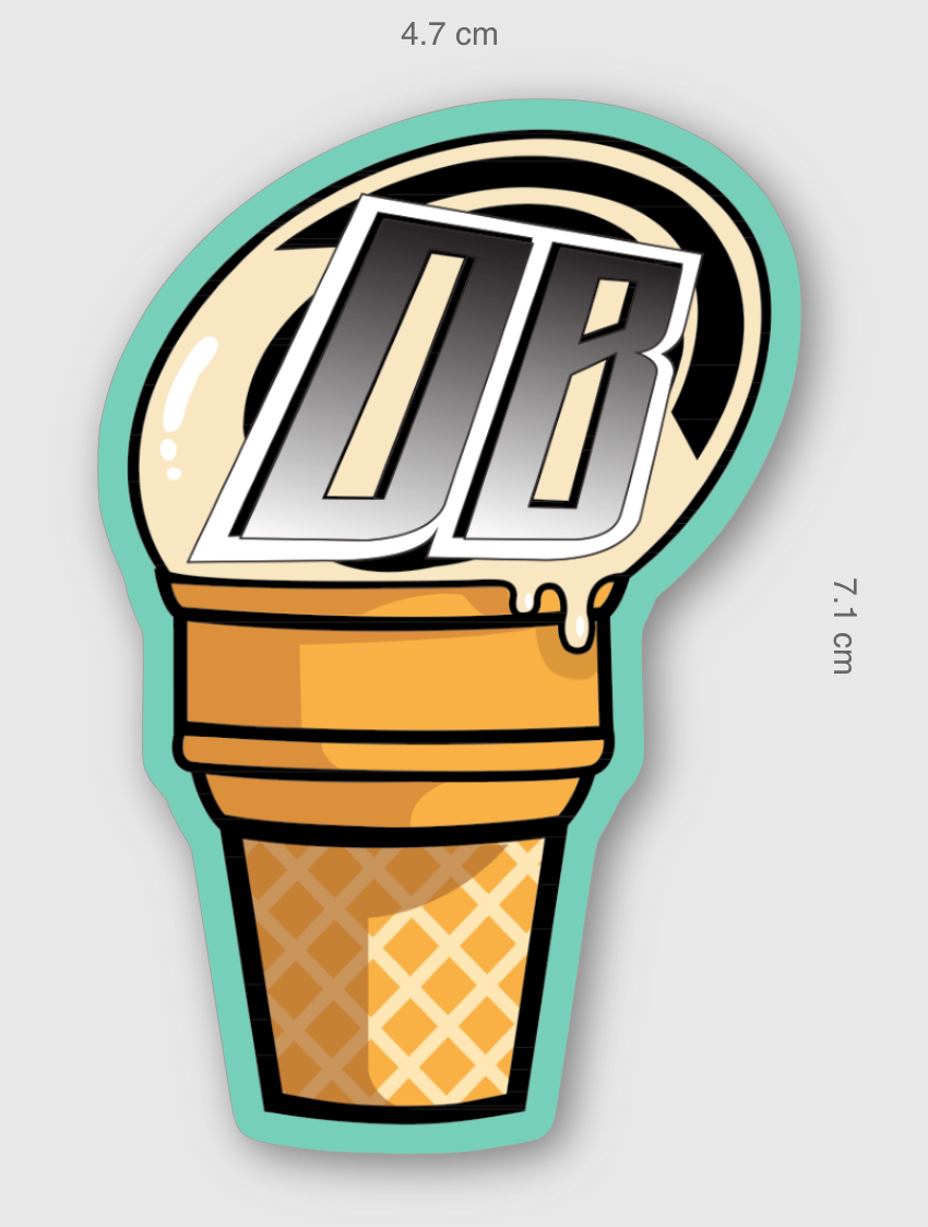 DB Ice Cream Sticker