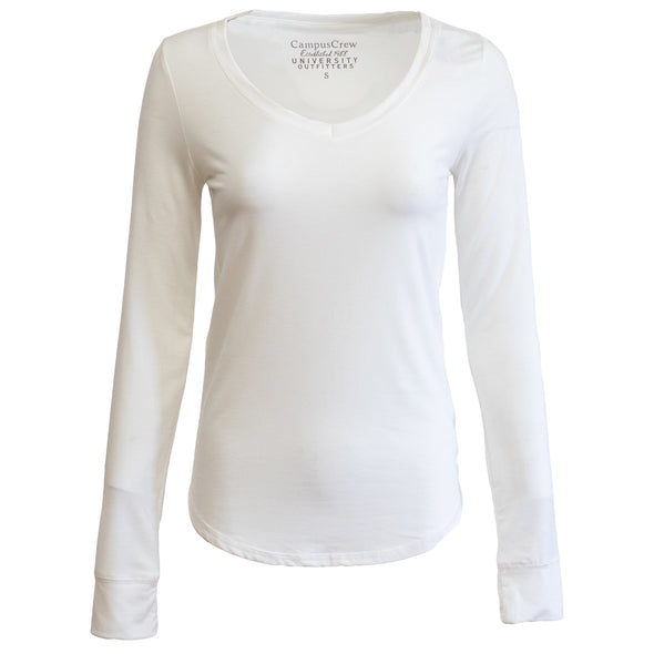 Women's Campus Crew Long Sleeve V-Neck