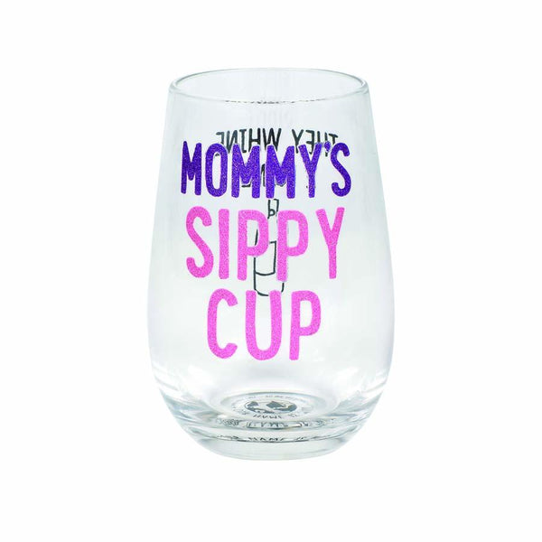 Mommy's Sippy Cup Stemless Glass