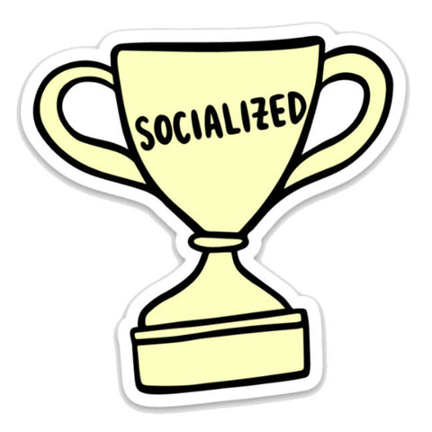Socialized Trophy Sticker