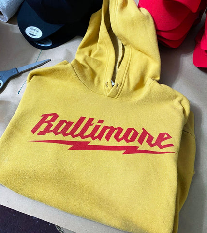 Baltimore Bolt Hoodie (Yellow)