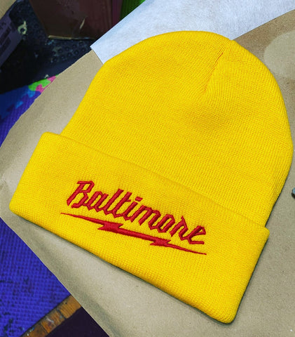 Baltimore Beanie ( Yellow)