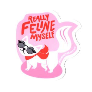Really Feline Myself Sticker