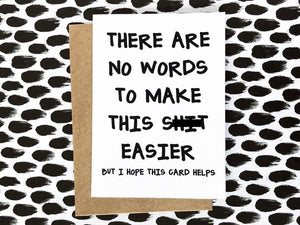 There Are No Words Card