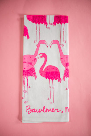 Baltimore Maryland Flamingo Dish Towel