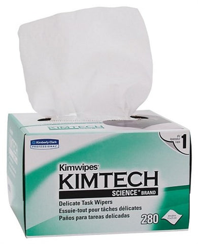 "Kimtech KIMWIPES™ Delicate Task Wipers  1-Ply, 4.4"" x 8.4"" Wipers (Case of 60 Boxes, 280 per Box)"