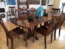 Load image into Gallery viewer, Rectangular walnut dining table with 6 chairs-Custom Order