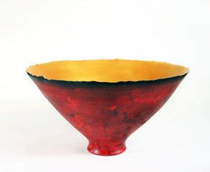 Prosperity Bowls in Painterly Red