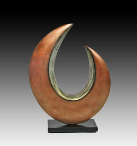 Quarter Moon, ceramic sculpture