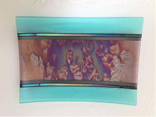 Load image into Gallery viewer, Aqua Ice Bamboo Glass Tray
