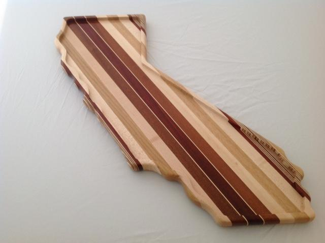 California shaped wood serving board - The Highlight Gallery