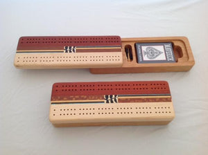 Inlaid cribbage board, sliding top - The Highlight Gallery