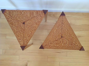 Triangle Tables, Semi-Nesting Pair - The Highlight Gallery