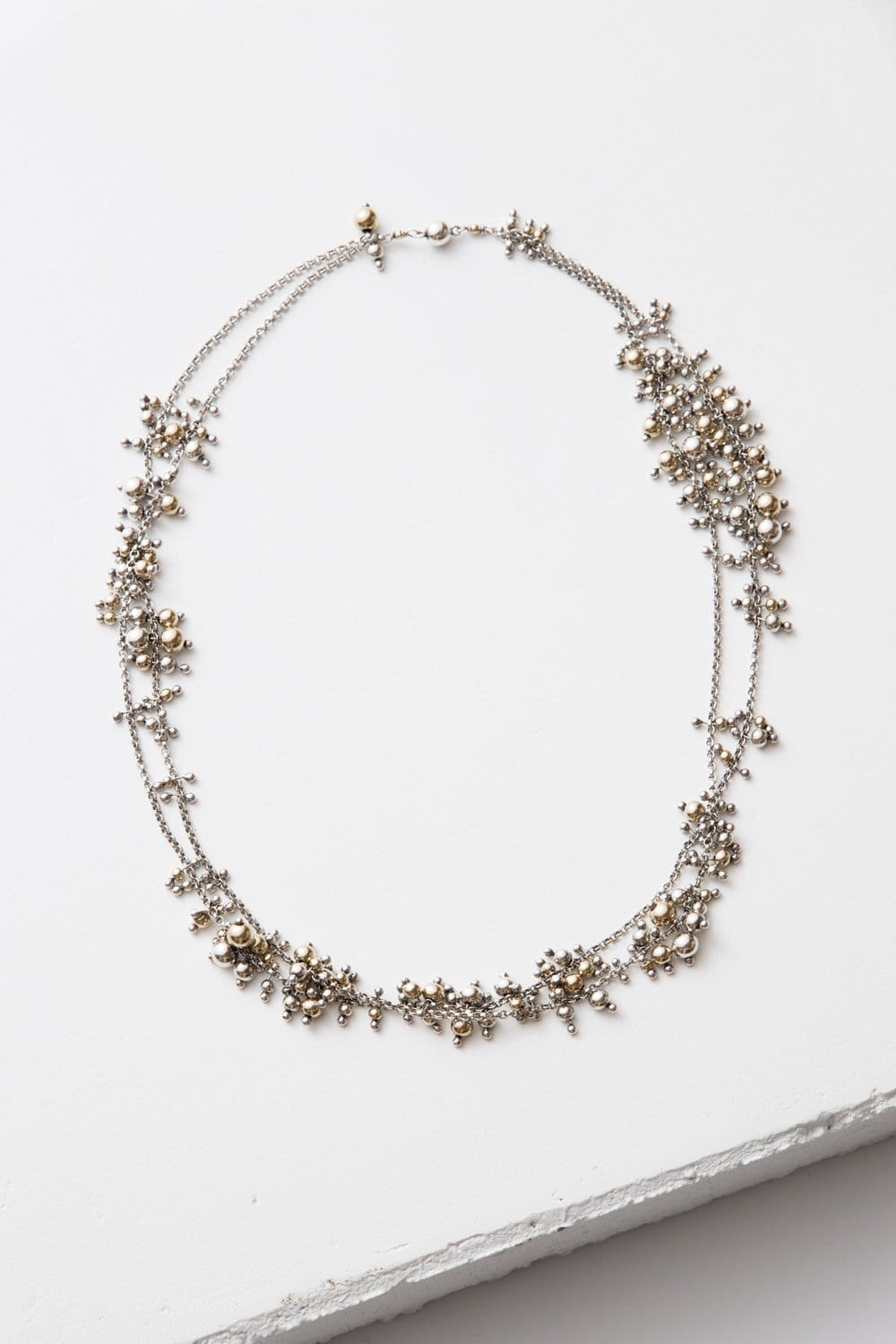 Cluster Necklace, sterling silver and 14k gold fill - The Highlight Gallery
