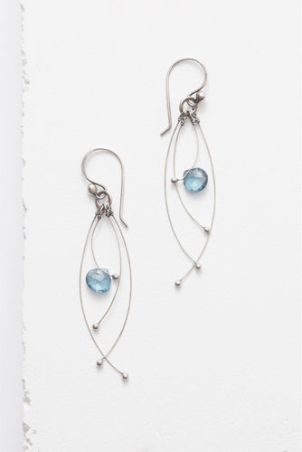 Tickle Earring, London Blue Topaz - The Highlight Gallery