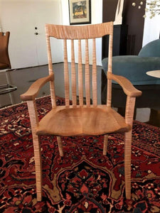 Ellis Arm Chair in Tiger Maple-Custom Order