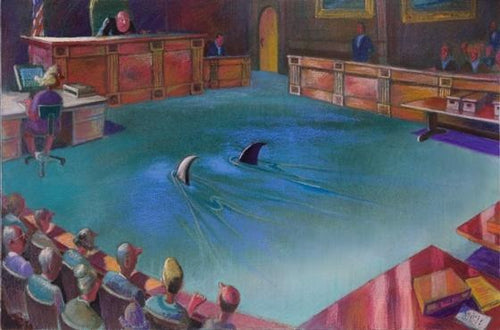 Counsel Approaching the Bench, unframed print, 18
